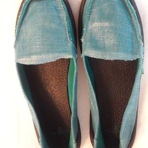 Turquoise Sanuk Shoes